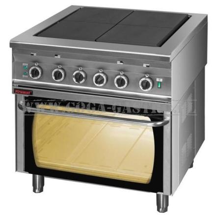 Kuchnia Elektryczna 4 Palnikowa Wolnostojąca Z Piekarnikiem Elektrycznym 800x750x900 Mm Kromet 000kez 4upe 2